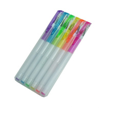 2014 New White Barrel Highlighter Gel Ink Pen Set in PP Box